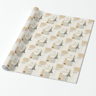 Papel de embalaje francés de las Ephemeras de