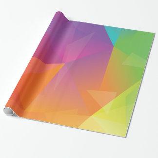 Papel de embalaje geométrico abstracto del arco papel de regalo