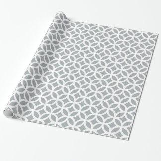 Papel de embalaje geométrico de los gris plateados papel de regalo