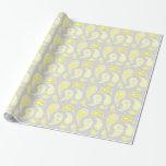 Papel de embalaje gris amarillo del modelo de Pais