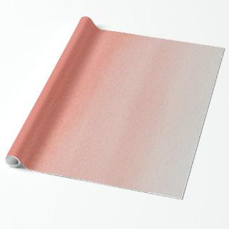 Papel de embalaje gris coralino elegante de la papel de regalo