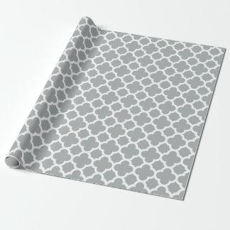 Papel de embalaje gris del modelo del enrejado de papel de regalo
