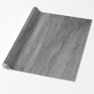 Papel de embalaje gris oscuro del granito papel de regalo