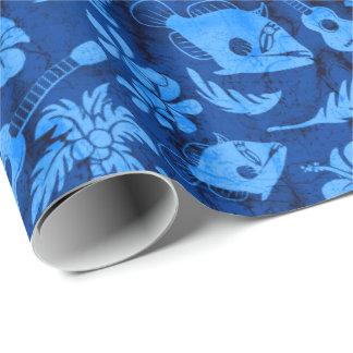 Papel de embalaje hawaiano del batik de la playa papel de regalo