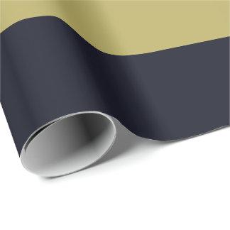 Papel de embalaje Horizontal-Rayado de la marina Papel De Regalo
