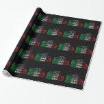 Papel de embalaje italiano de la bandera del papel de regalo