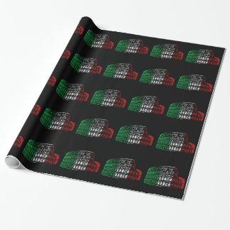 Papel de embalaje italiano de la bandera del