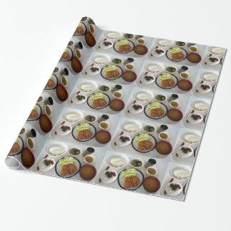 Papel de embalaje japonés de los cuencos de sopa papel de regalo