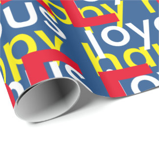 Papel de embalaje libre feliz feliz papel de regalo