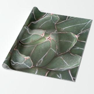 Papel de embalaje mate de la planta verde de papel de regalo