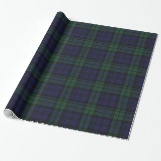 Papel de embalaje negro tradicional de la tela papel de regalo