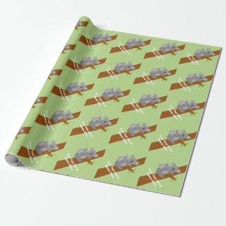 Papel de embalaje neutral lindo de la fiesta de papel de regalo