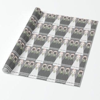 Papel de embalaje nupcial negro personalizado de papel de regalo