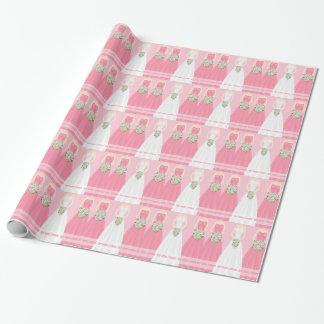 Papel de embalaje nupcial personalizado de la papel de regalo