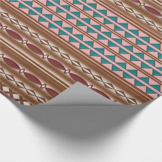 Papel de embalaje occidental rústico del modelo papel de regalo