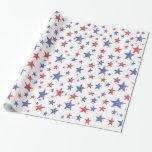 Papel de embalaje patriótico de las estrellas