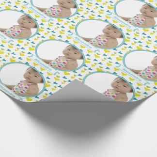 Papel de embalaje personalizado de la foto del papel de regalo