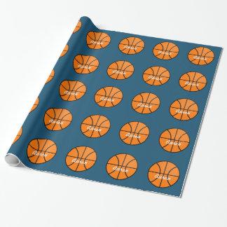 Papel de embalaje personalizado del baloncesto papel de regalo