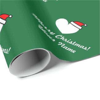 Papel de embalaje personalizado del corazón de