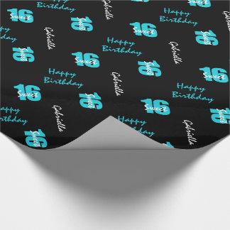 Papel de embalaje personalizado del dulce 16 del papel de regalo