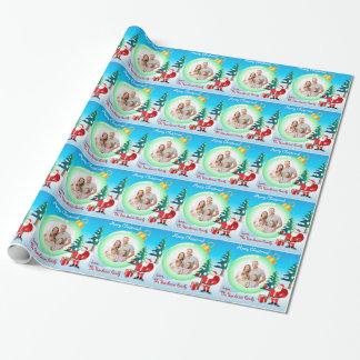 Papel de embalaje personalizado del navidad de la papel de regalo