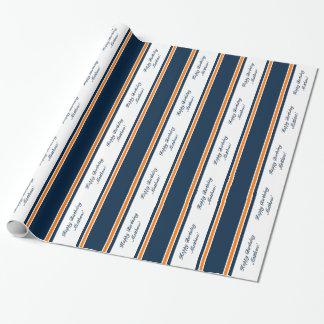 Papel de embalaje personalizado raya del papel de regalo