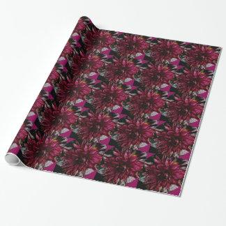 Papel de embalaje púrpura de la flor papel de regalo