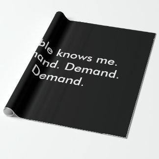 Papel de embalaje que haría las páginas divertidas papel de regalo