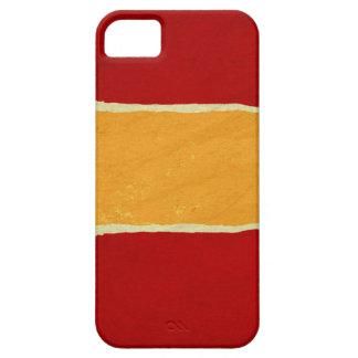 Papel de embalaje rasgado rojo del navidad funda para iPhone SE/5/5s