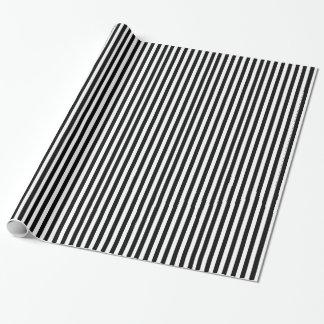 Papel de embalaje rayado blanco y negro del papel