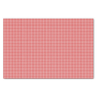PAPEL de EMBALAJE Rojo-Blanco del Guinga-TEJIDO Papel De Seda Pequeño