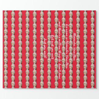 Papel de embalaje rojo de Alexander Hamilton Papel De Regalo
