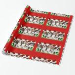 Papel de embalaje rojo de los perritos del beagle papel de regalo