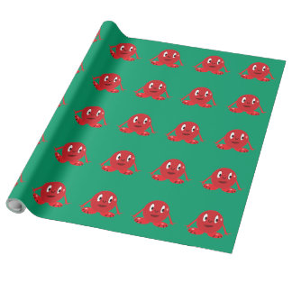 Papel de embalaje rojo de Roundie