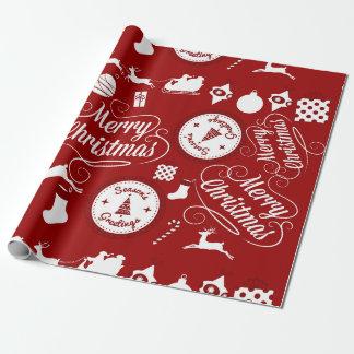 Papel de embalaje rojo festivo de las Felices