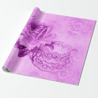Papel de embalaje rosado bonito de los &Flowers de Papel De Regalo