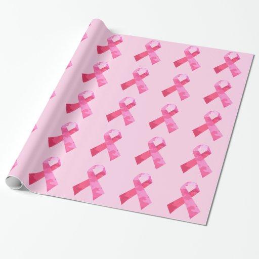 Papel de embalaje rosado de la cinta del camuflaje papel de regalo