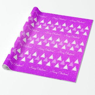 Papel de embalaje rosado de los árboles de navidad papel de regalo