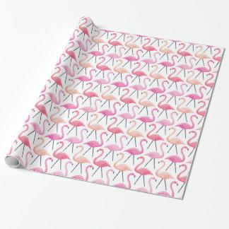 Papel de embalaje rosado de los flamencos papel de regalo