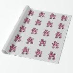 Papel de embalaje rosado del caniche