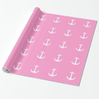 Papel de embalaje rosado del modelo náutico de