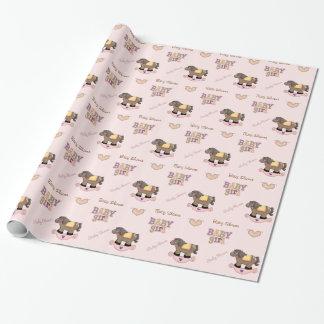 Papel de embalaje rosado lindo de la fiesta de