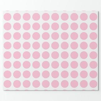 Papel de embalaje rosado suave de los lunares papel de regalo