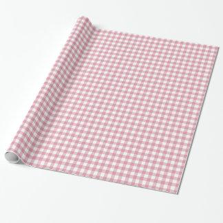Papel de embalaje rosado y blanco bonito de la papel de regalo