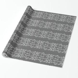 Papel de embalaje rústico gris del acebo