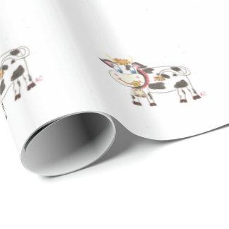 Papel de embalaje suizo de la vaca papel de regalo