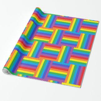 Papel de embalaje tejido del arco iris papel de regalo