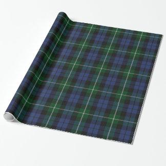 Papel de embalaje tradicional de la tela escocesa papel de regalo