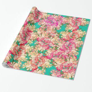 Papel de embalaje tropical floral de las flores papel de regalo