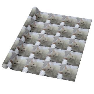 papel de embalaje turco blanco del gato del angora papel de regalo